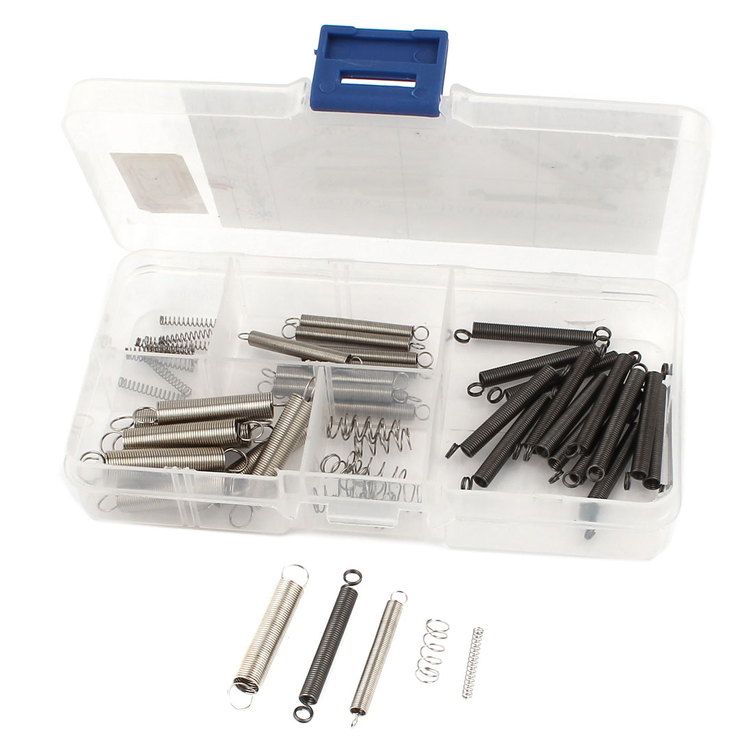 Repairing Close-coiled Hook End Extension Compression Spring Set 55Pcs