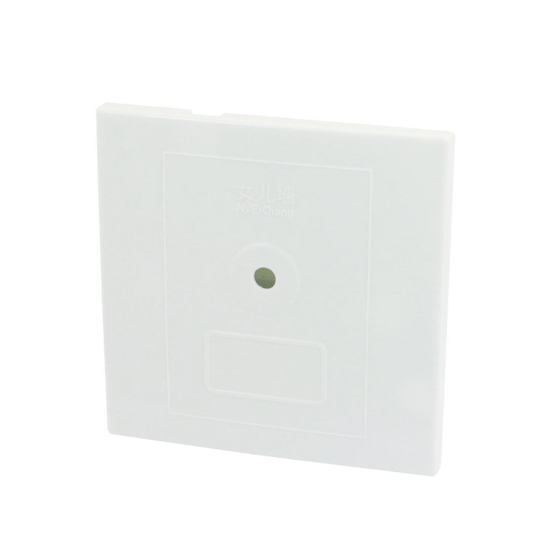 Square Shaped White Plastic CCTV Camera Housing Case 8.6cm x 8.6cm x 4cm