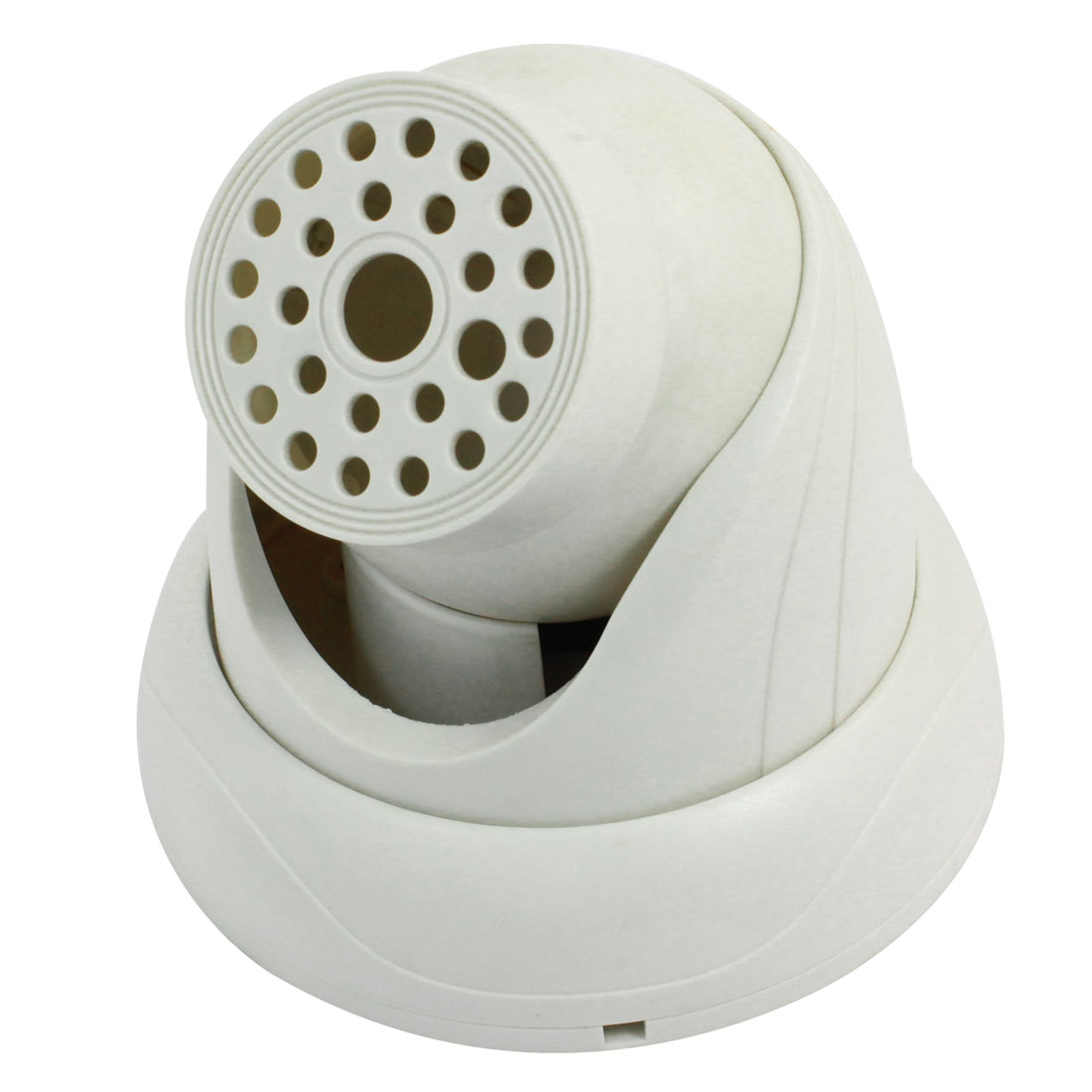 "Indoor White Plastic CCTV Dome Camera Housing Case 5.3"" Dia"