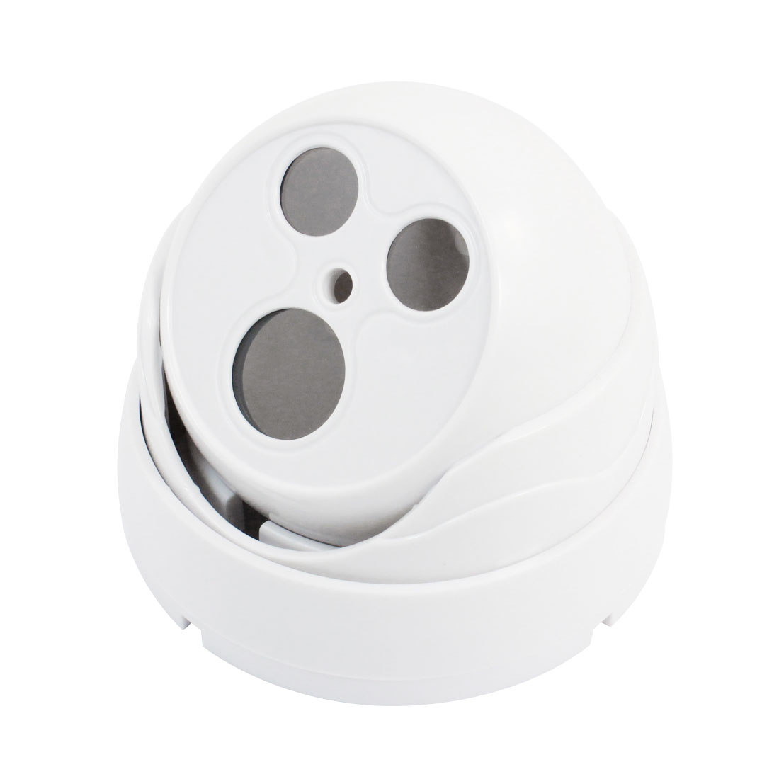 "Indoor 3.8"" High White Plastic CCTV Dome Camera Housing Case"