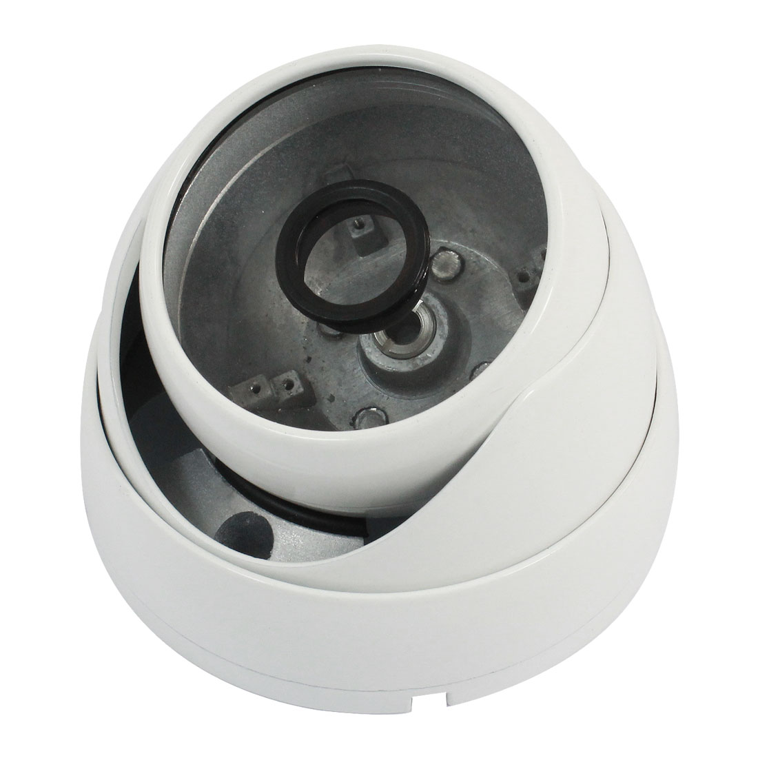 "Surveillance White Metal CCTV Dome Camera Housing Case 3.6"" Dia"