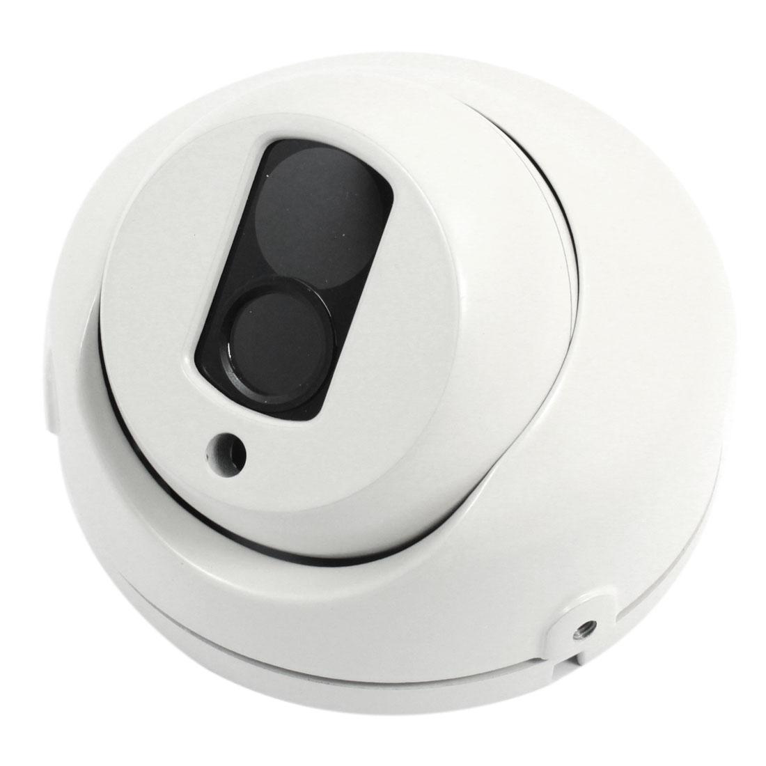 "Surveillance White Metal CCTV Dome Camera Housing Case 4.7"" Dia"