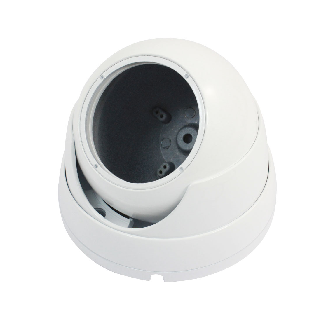 "Indoor White Metal CCTV Dome Camera Housing Case 4.7"" Dia"