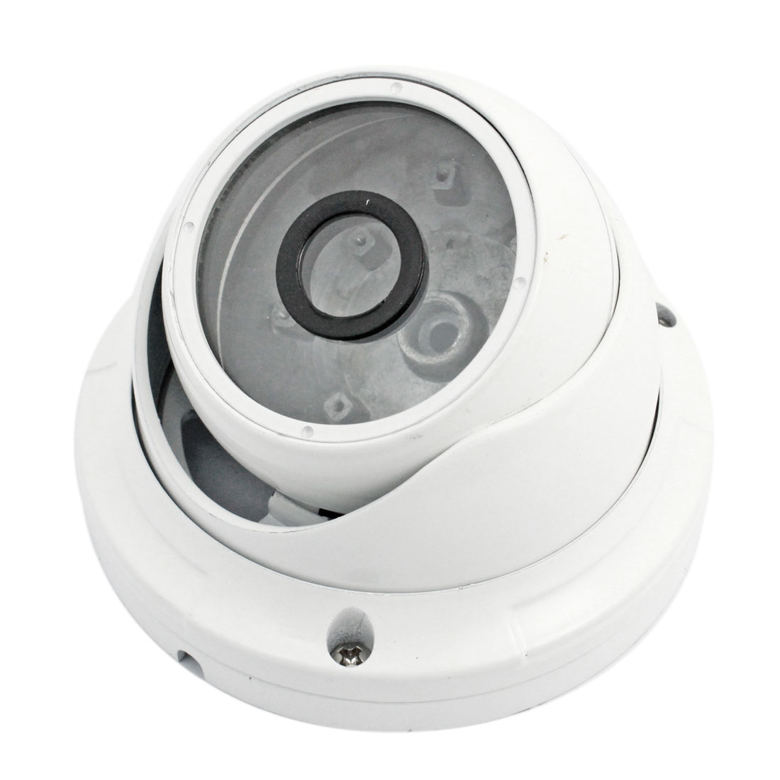 "Surveillance White Metal CCTV Dome Camera Housing Case 4.1"" Dia"