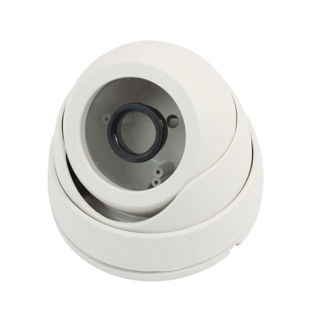 "Surveillance White Plastic CCTV Dome Camera Housing Case 3.6"" Dia"