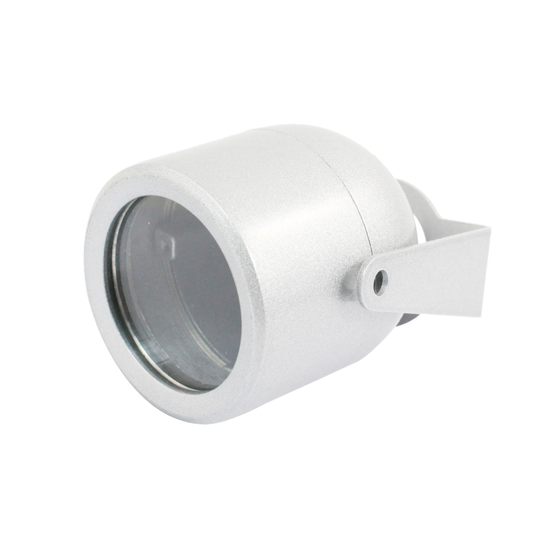 "Oval Shaped Silver Gray Metal CCTV Camera Housing Case 2.5"" High"