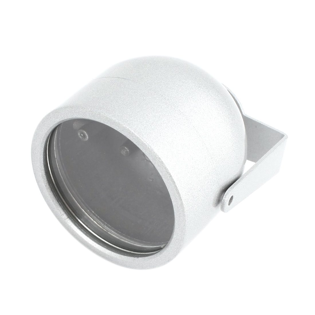 "Oval Shaped Silver Gray Metal CCTV Camera Housing Case 2.8"" High"