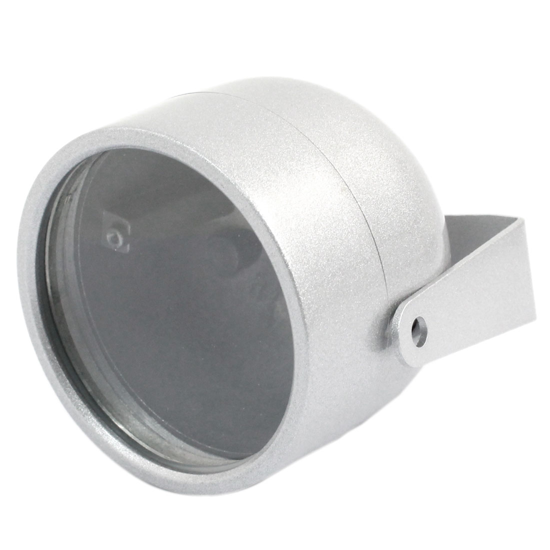 "Oval Shaped Silver Gray Metal CCTV Camera Housing Case 3"" High"