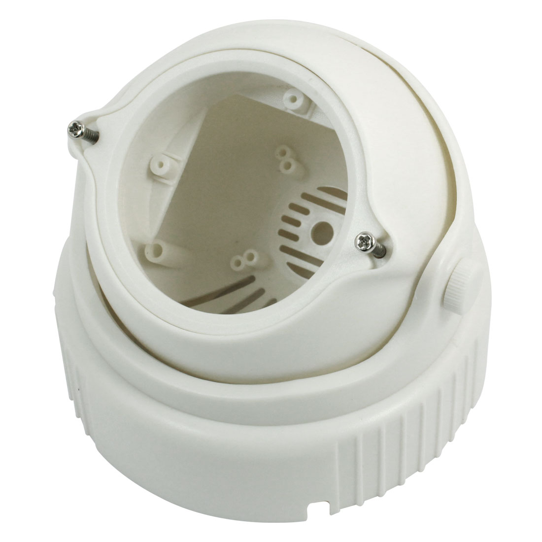 "Surveillance White Plastic CCTV Dome Camera Housing Case 4.7"" Dia"