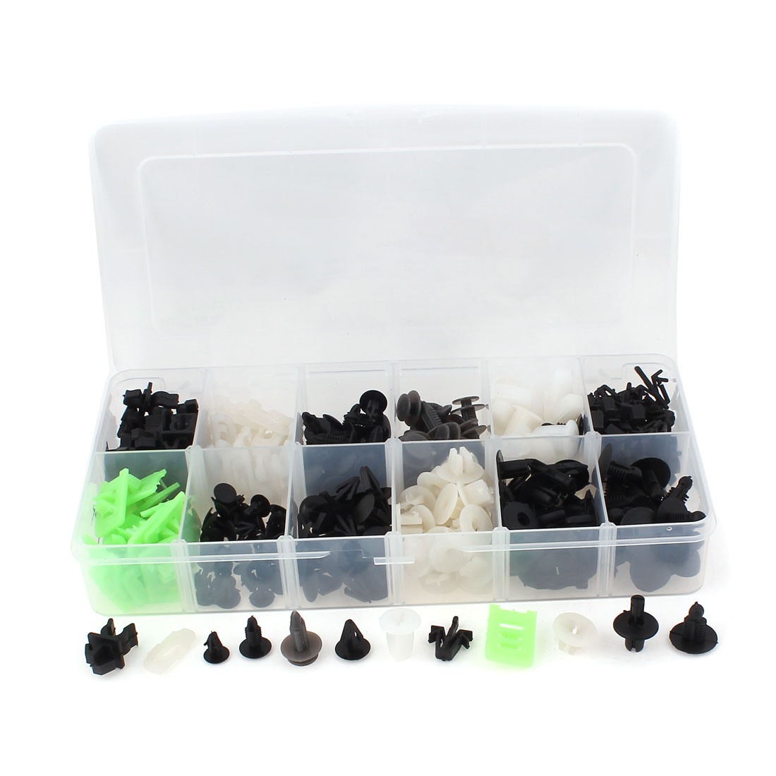 290 Pcs in 1 Assorted Color Plastic Rivets Fasteners Retainer Clips for Toyota