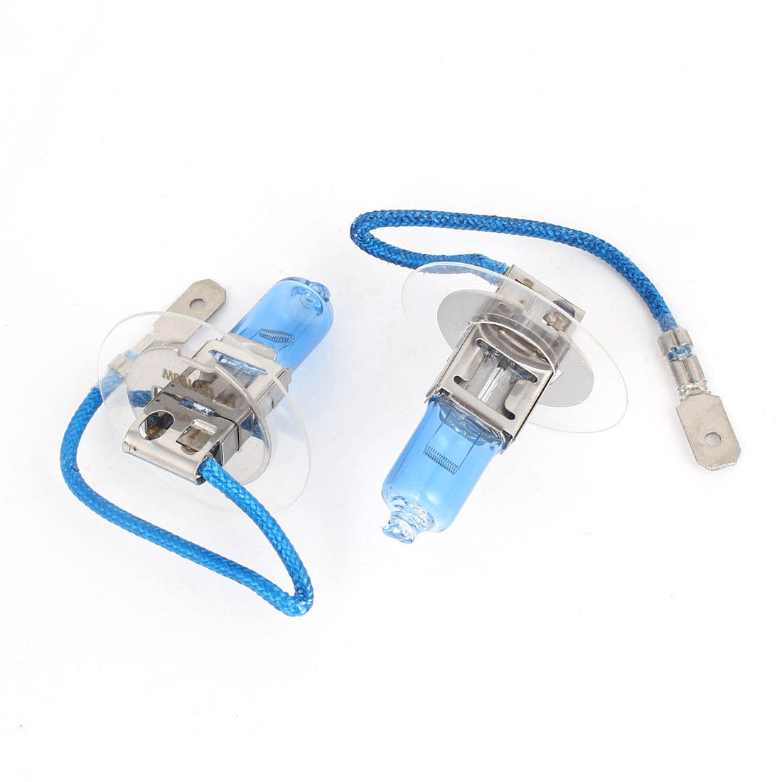 2 Pcs 12V 100W H3 White Car DRL Foglight Light Head Spare Bulb Lamp
