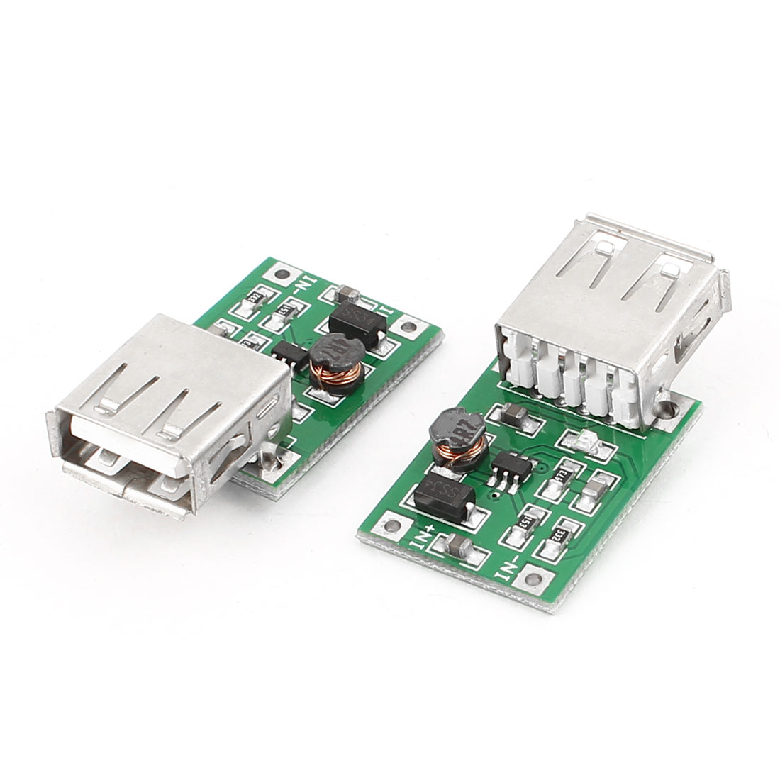 2 Pcs DC-DC Converter Step Up Boost Module 0.9V to 5V USB Charger for MP3 MP4