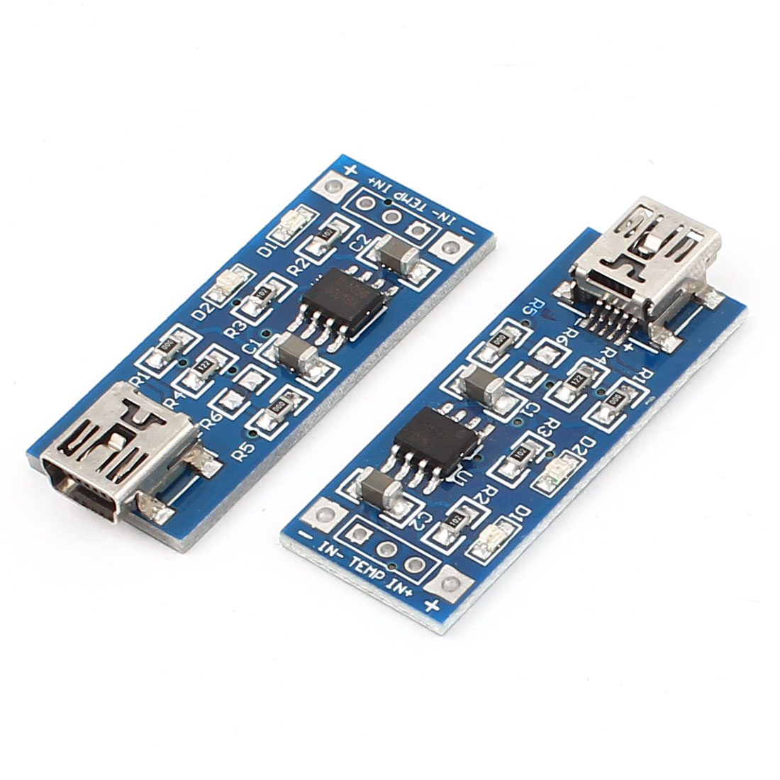 2 Pcs TP4056 5V 1A USB Mini 5Pin Lithium Battery Charging Board Charger Module
