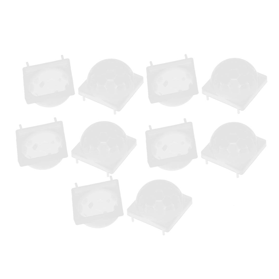 10 Pcs Body IR Sensor Infrared Fresnel Lens Modular White