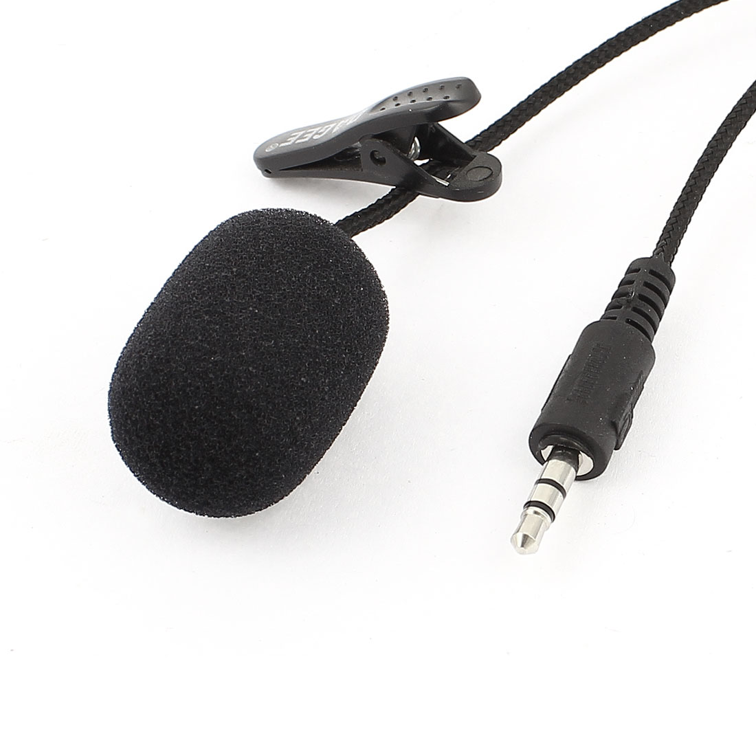 Black 3.5mm Mini Portable Hand-Free Skype Laptop Microphone w Clip