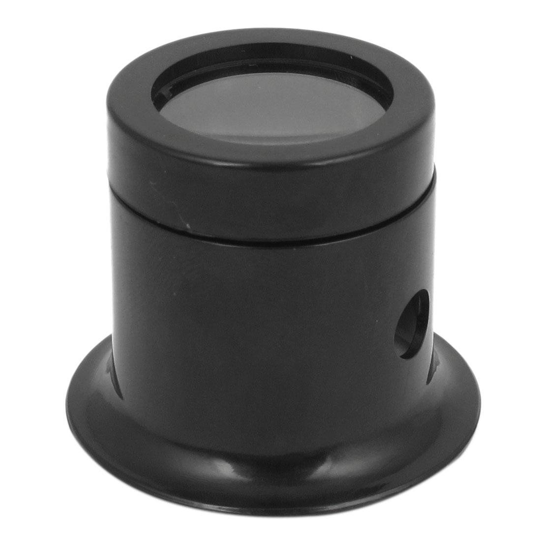 Black Plastic Magnifying Glass Loupe Len 20mm Headband Watch Repair Magnifier 5X
