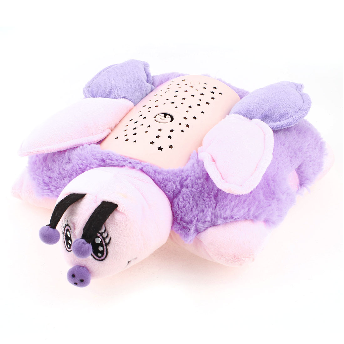 RGB LED Pink Purple Fleece Butterfly Night Light Star Master Projector Sleep Lamp