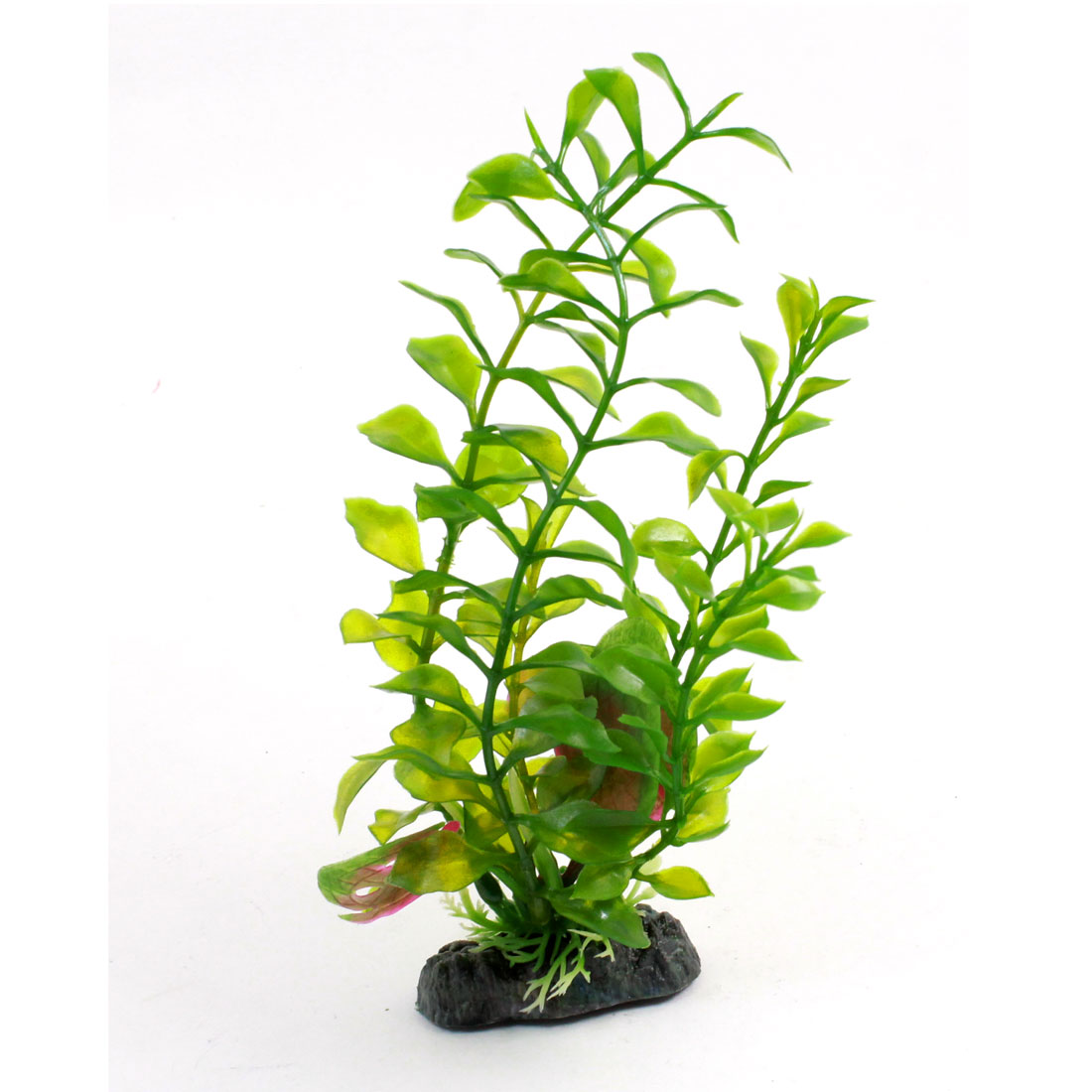 "Fish Tank Emulational Plastic Aquatic Plant Decoration Green 8.3"" High"