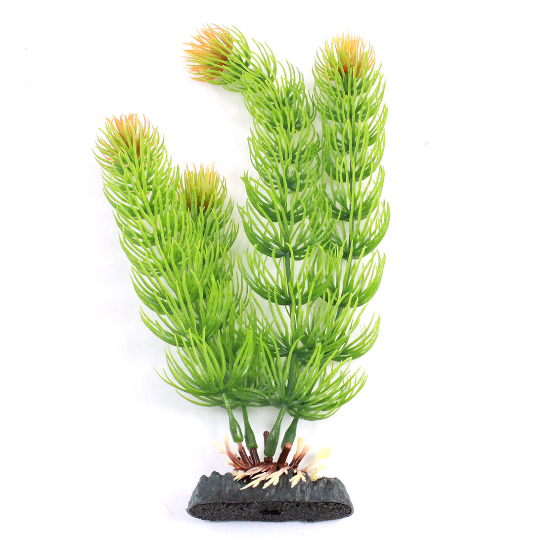 "Aquarium Landscaping Ornament Emulational Water Plant Green 8.5"" High"