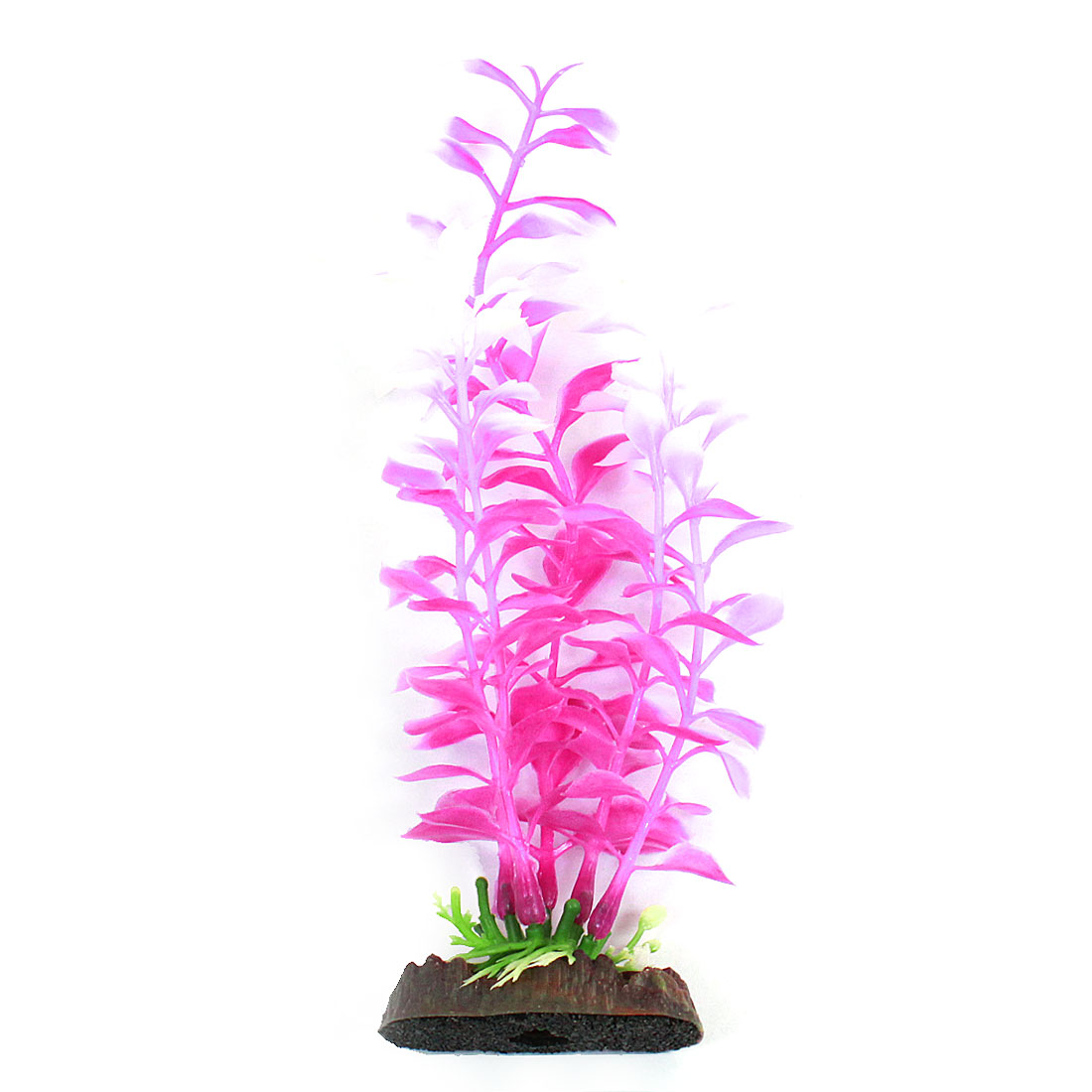 Aquarium Tank Emulational Glow Light Underwater Grass Fuchsia White 21cm High