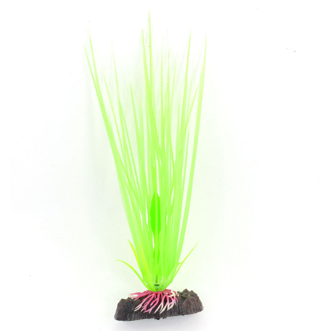 "Fish Tank Ornament Glow In Dark Manmade Aquatic Water Grass Plant Light Green 7.7"" Height"