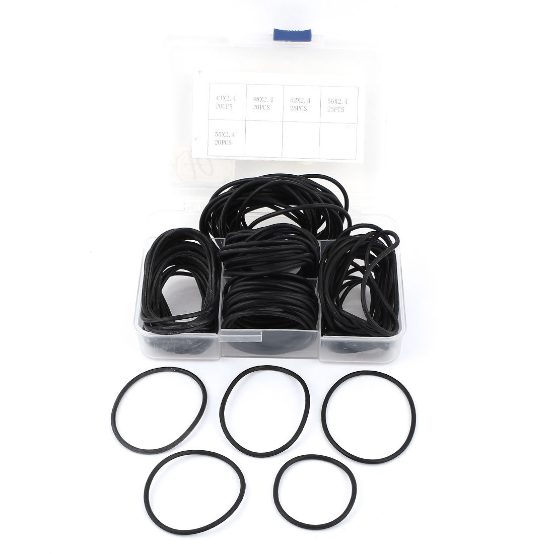 Replacement 2.4mm Thickness 5 Size Flexibal Black Rubber Oil Filter Seal O Ring Washer Gasket Spacer 110 Pcs