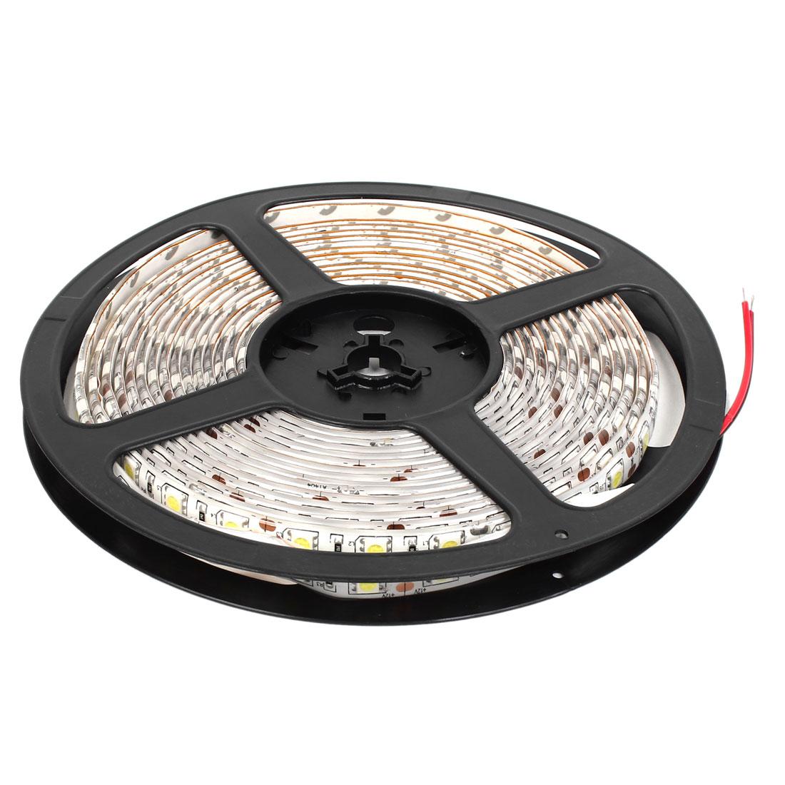 Indoor DC 12V Pure White 5050 SMD 300 LEDs Waterproof Flexible LED Strip Light 5M