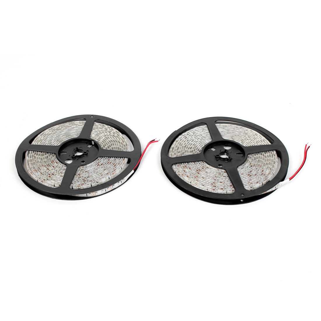 2PCS DC 12V Red 3528 SMD 600 LEDs Waterproof Flexible LED Strip Light 5M