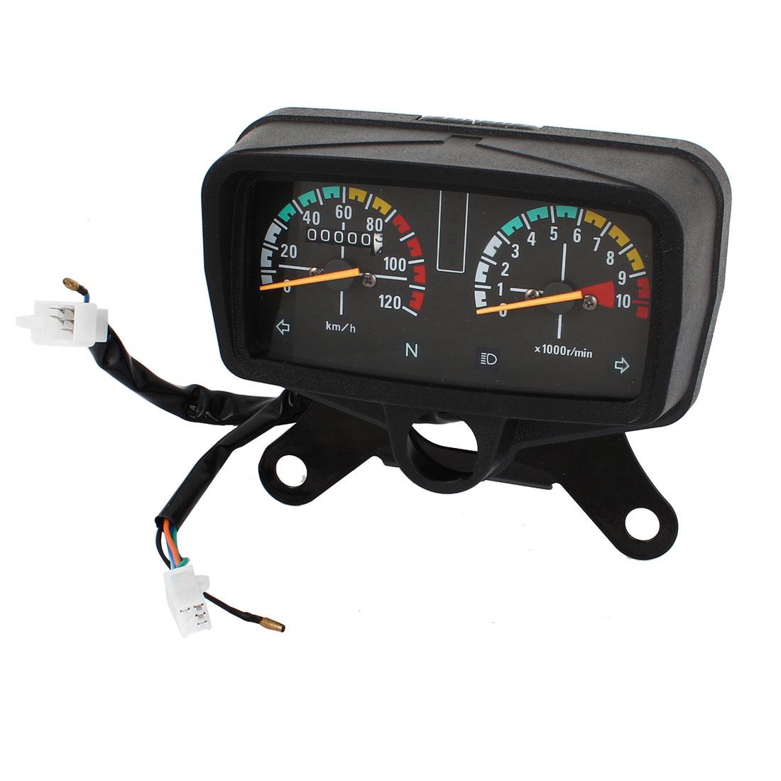 Motorcycle Speedometer Tachometer Odometer Gauge Cluster 0-120km/h
