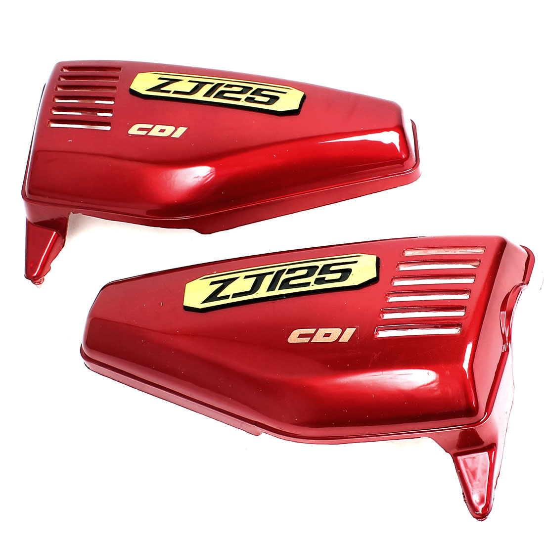 Pair Red Plastic Left Right Motorcycle Side Cover Replacing Part for ZJ125