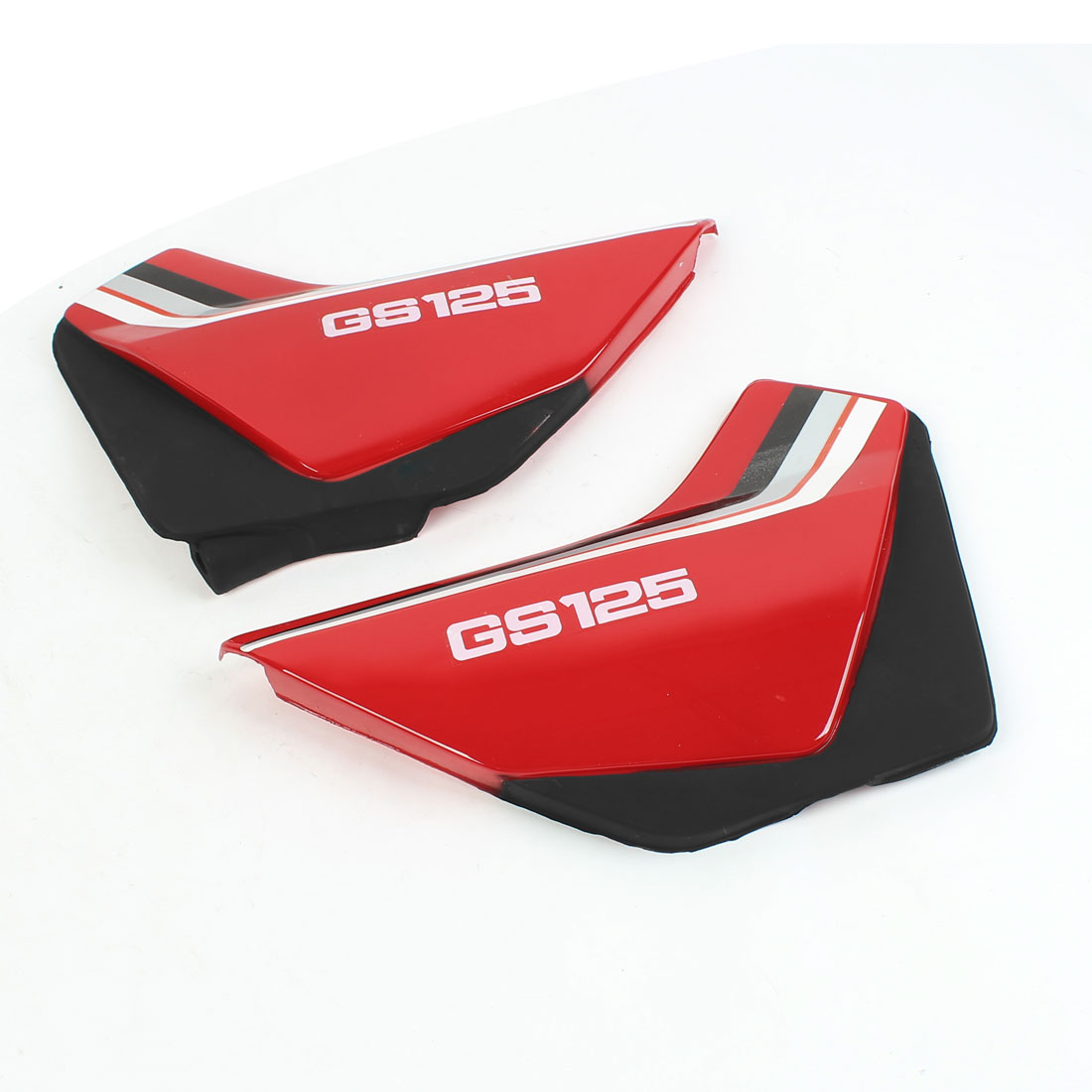 Pair Red Black Plastic Left Right Motorcycle Side Cover Replacing Part for GS125