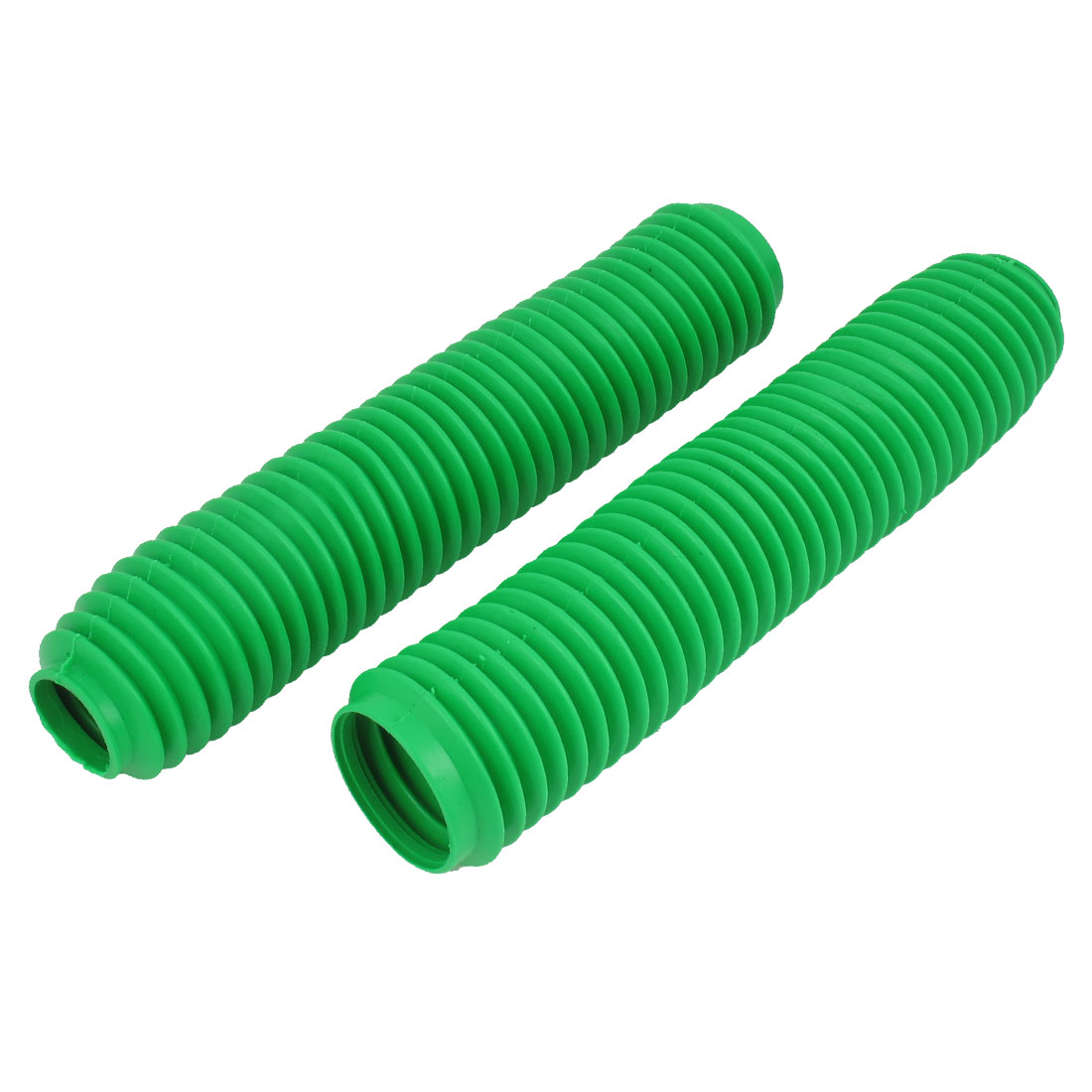 Pair 38cm Long Front Fork Cover Shock Absorber Dust Rubber Cover Green