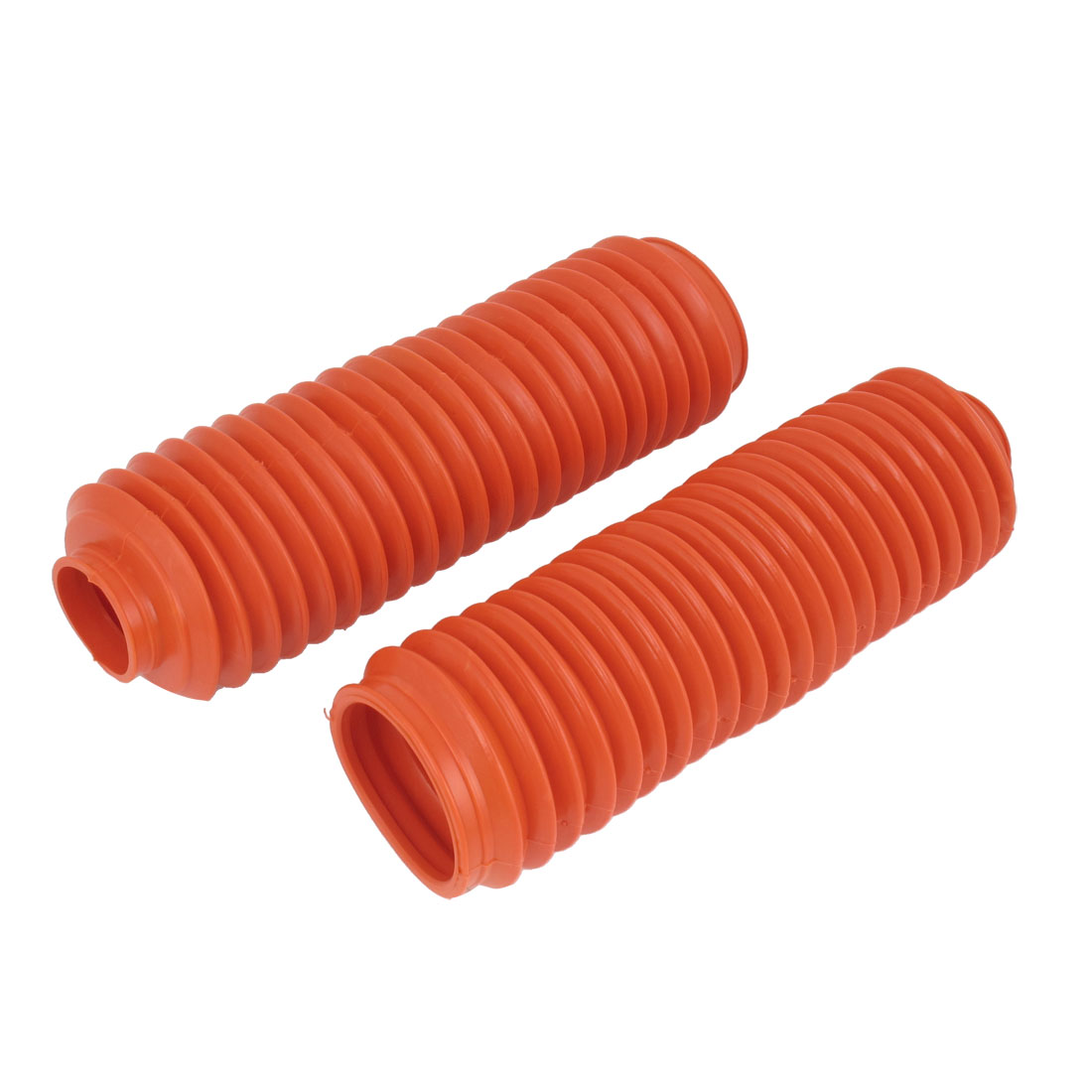 Autobicycle Red Rubber Front Shock Absorber Protection Dust Cover Pair 24cm Long