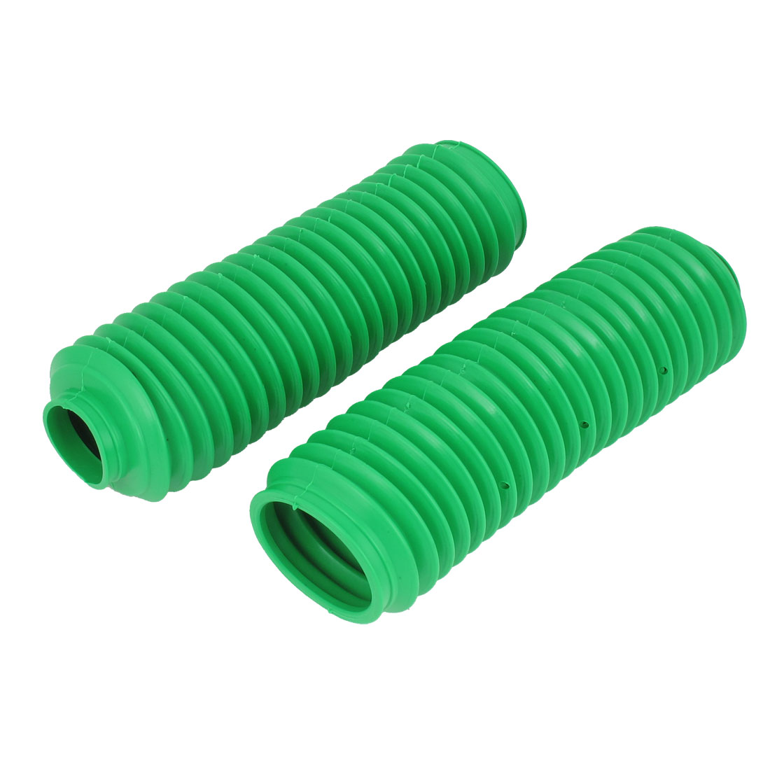 Autobicycle Green Rubber Front Shock Absorber Protection Dust Cover Pair 24cm Long