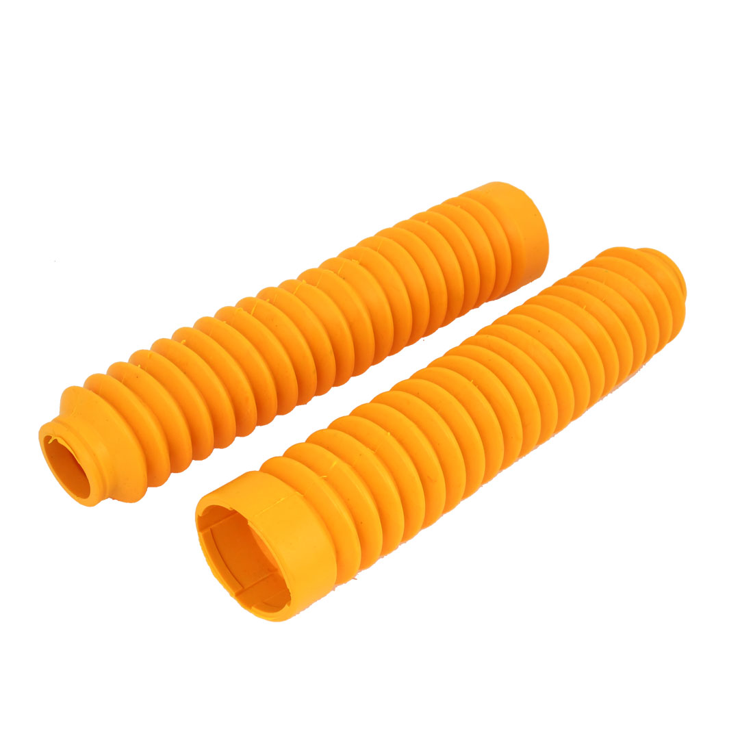 Pair 26cm Long Front Fork Cover Shock Absorber Dust Rubber Cover Yellow