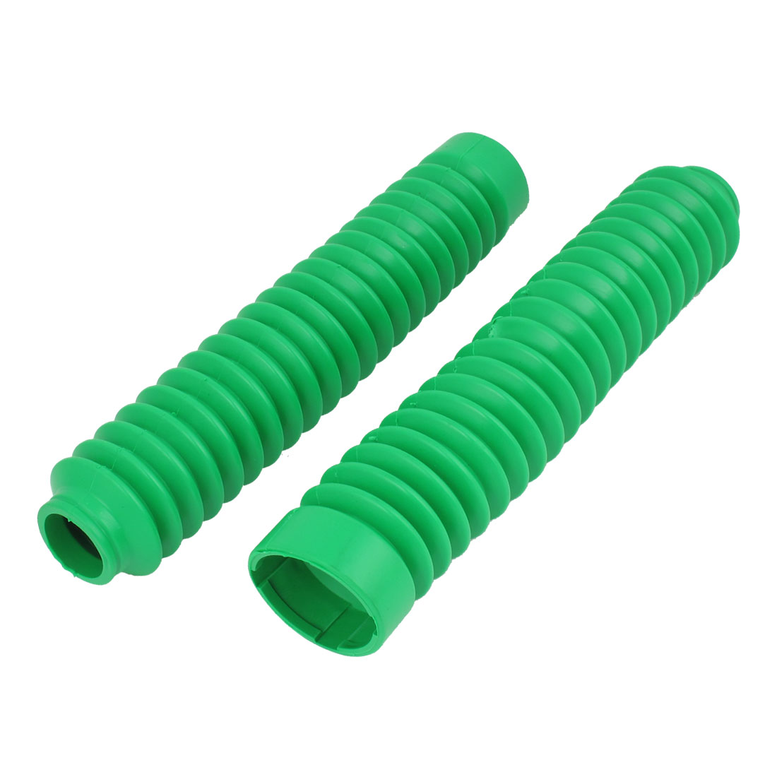 Pair 26cm Long Front Fork Cover Shock Absorber Dust Rubber Cover Green