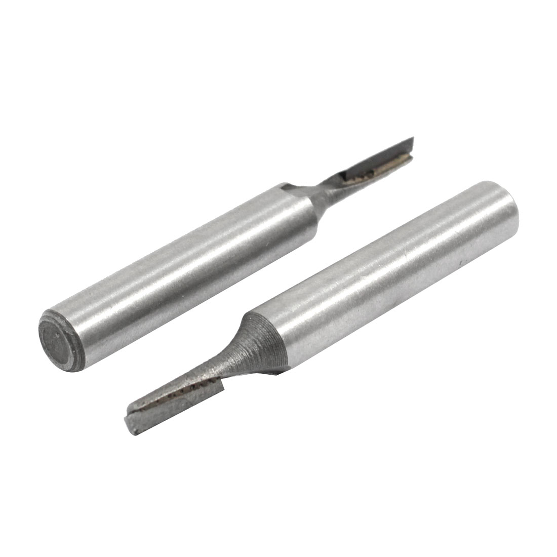 "1/4"" Shank 1/8"" Cutting Dia One Flute Straight Router Bit Tool 2 Pcs"