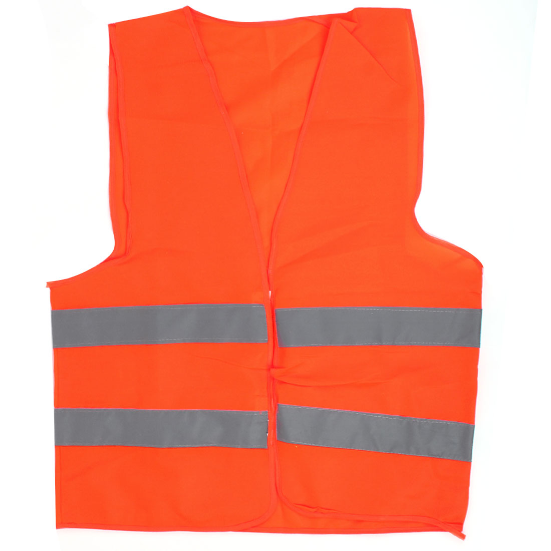 Reflective Traffic Safety Security Vest Orange Red 68cm x 57cm