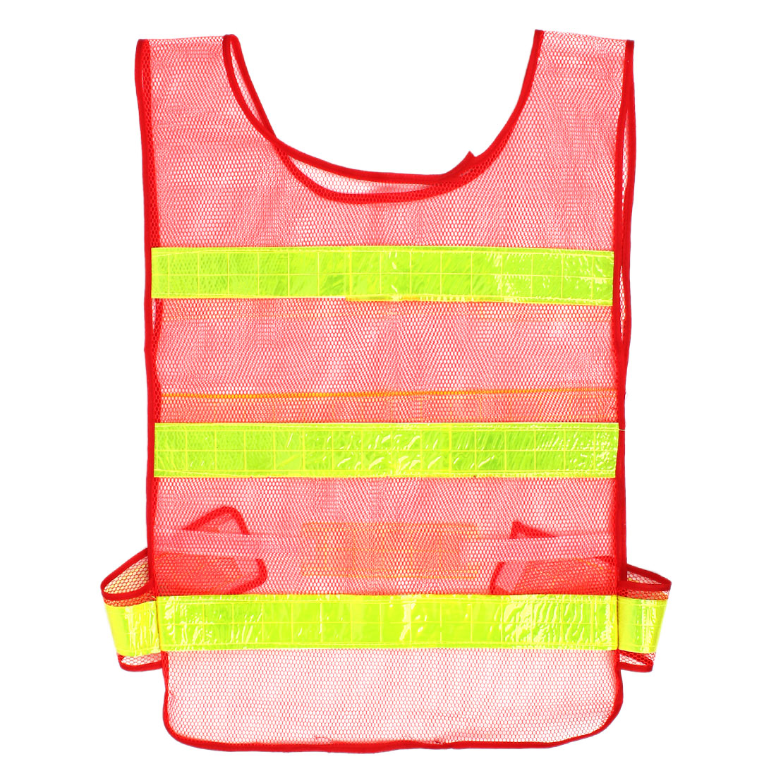 Reflective Meshy Style Traffic Safety Security Vest Red 57cm x 40cm 2pcs