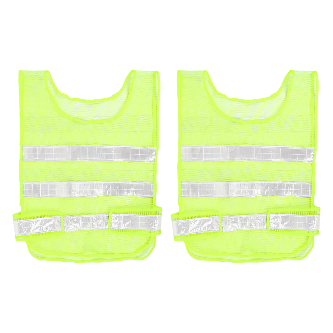 Reflective Meshy Style Traffic Safety Security Vest 57cm x 40cm 2pcs