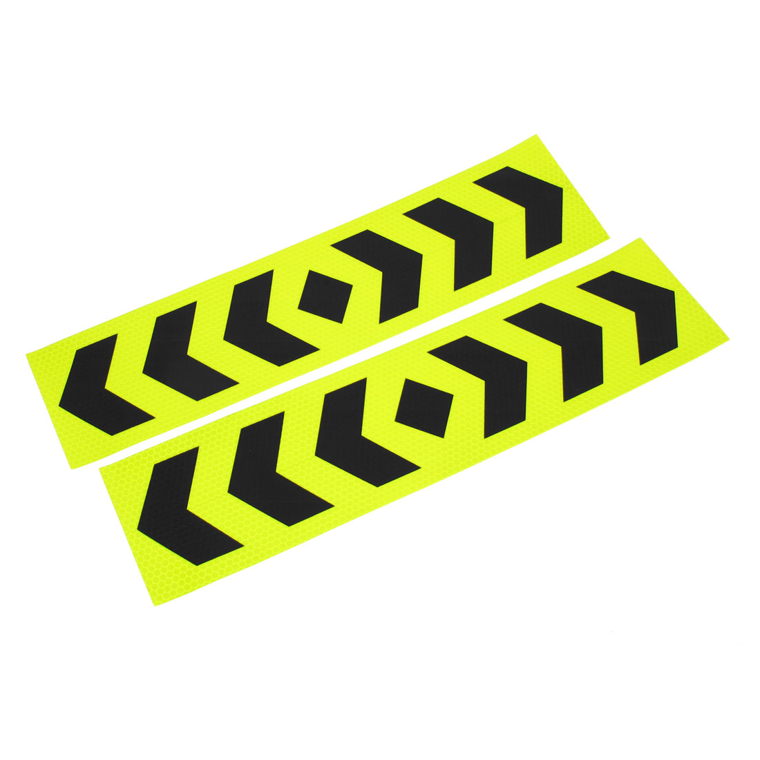 2 Pcs Car Decoration Shiny Green Black Arrows Print Reflected Stickers 40cm x 10cm