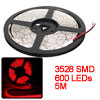 Stairs DC 12V Red 3528 SMD 600 LEDs Waterproof Flexible LED Strip Light 5M
