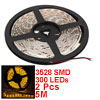 2PCS DC 12V Yellow 3528 SMD 300 LEDs Waterproof Flexible LED Strip Light 5M