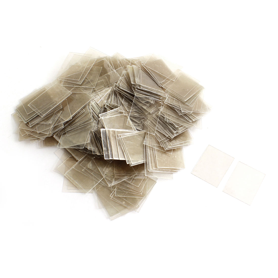 500Pcs Mica Paper Sheets Insulator 20mmx25mmx0.09mm