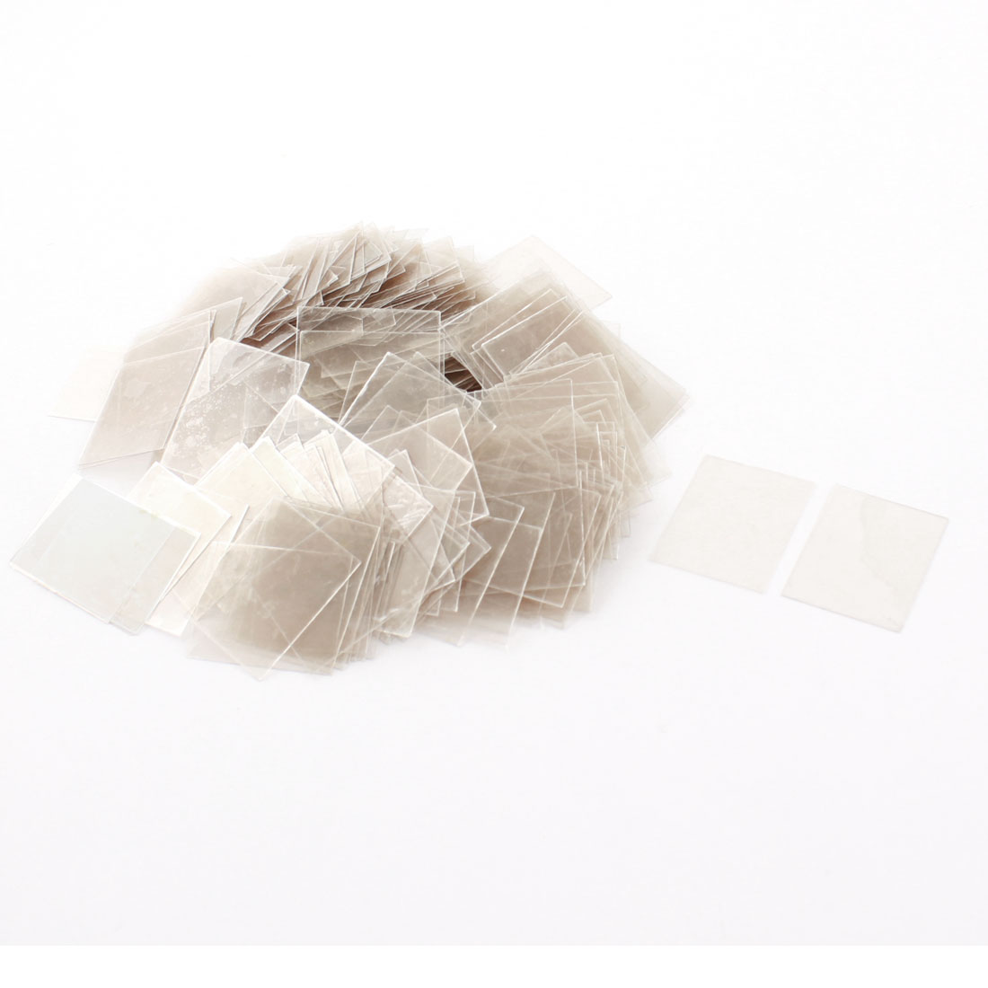 300Pcs 20mm x 25cm x 0.09mm Mica Paper Sheets Insulator