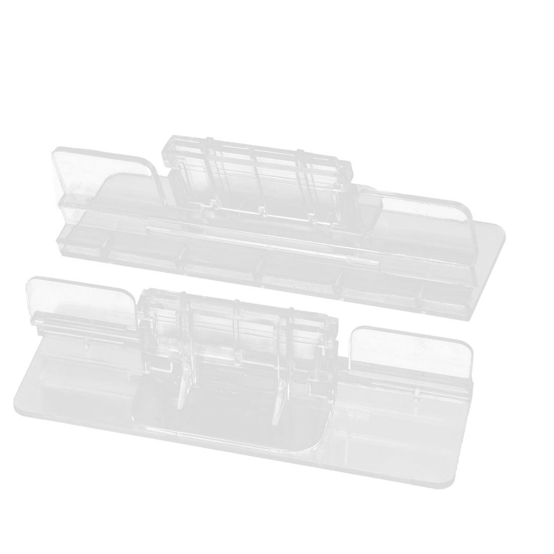 2pcs Aquarium Tank Clear Plastic Glass Cover Clip Support Holder 4-12mm