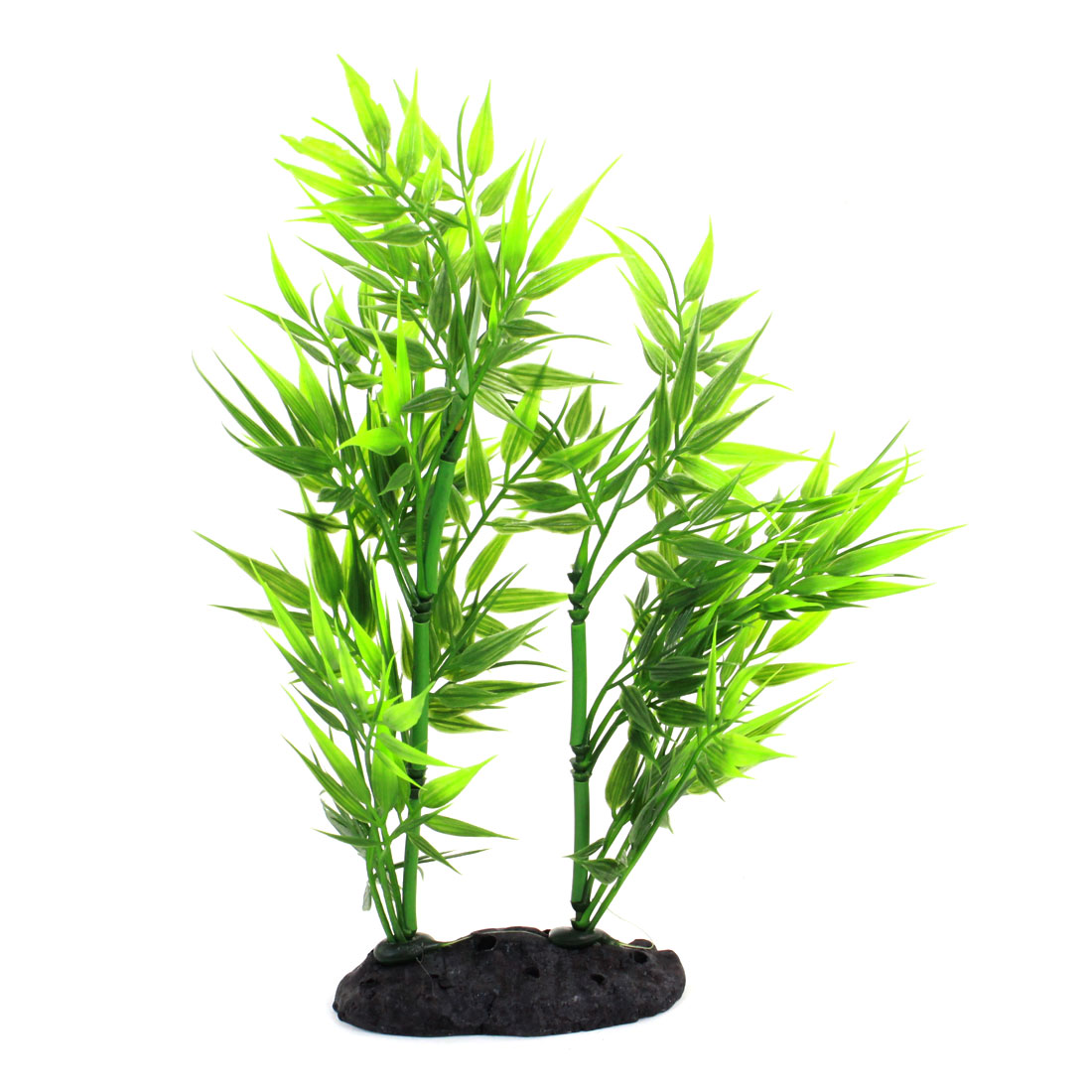 "Aquarium Fish Tank Landscaping Artificial Emulational Underwater Water Plant Bamboo Decor Green 8.3"" Height"