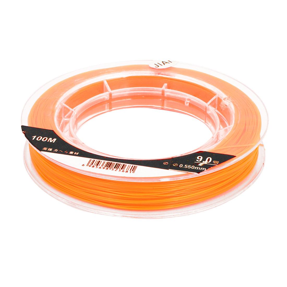 Orange 18kg Load 0.550mm Dia Nylon Fishing Line Thread Reel 100M 9#