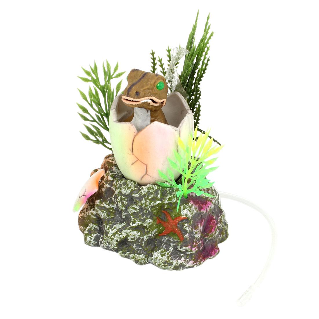 """Aquarium Landscaping Artificial Underwater Dinosaur Egg Decor Assorted Color 5"""" Height"""