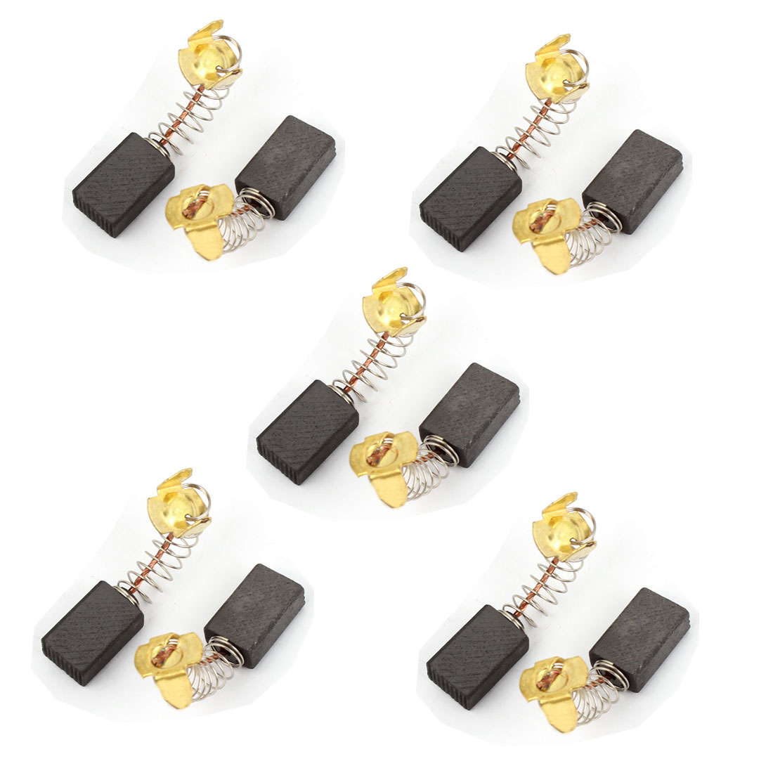 10 Pcs Spare Part Spring Type Electric Drill Motor 15mm x 10mm x 6mm Carbon Brushes